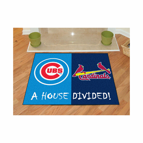 A House Divided 34x45 Mat<br>Cubs / Cardinals