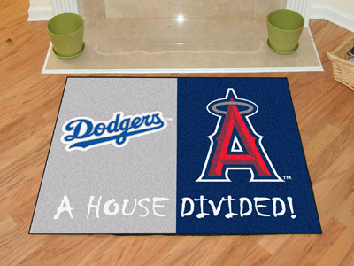 A House Divided MLB Mat - Dodgers / Angels