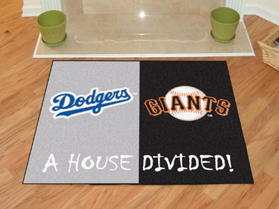 A House Divided MLB Mat - Dodgers / Giants