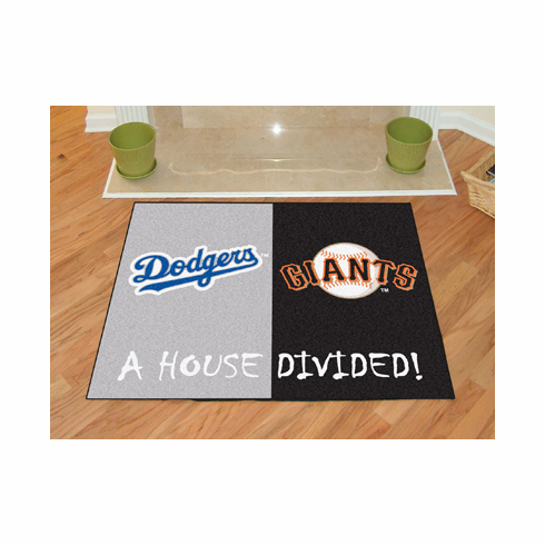 A House Divided 34x45 Mat<br>Dodgers / Giants