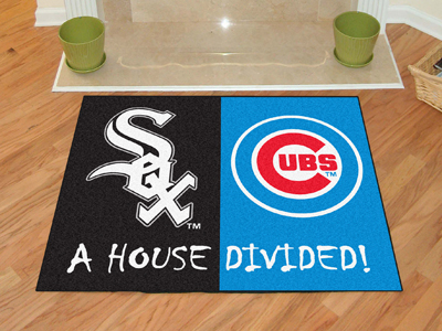 A House Divided MLB Mat - White Sox / Cubs