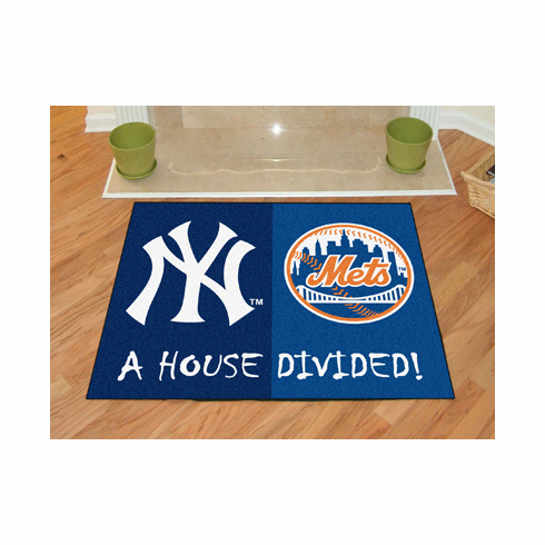 A House Divided MLB Mat - Yankees / Mets