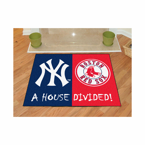 A House Divided MLB Mat - Yankees / Red Sox