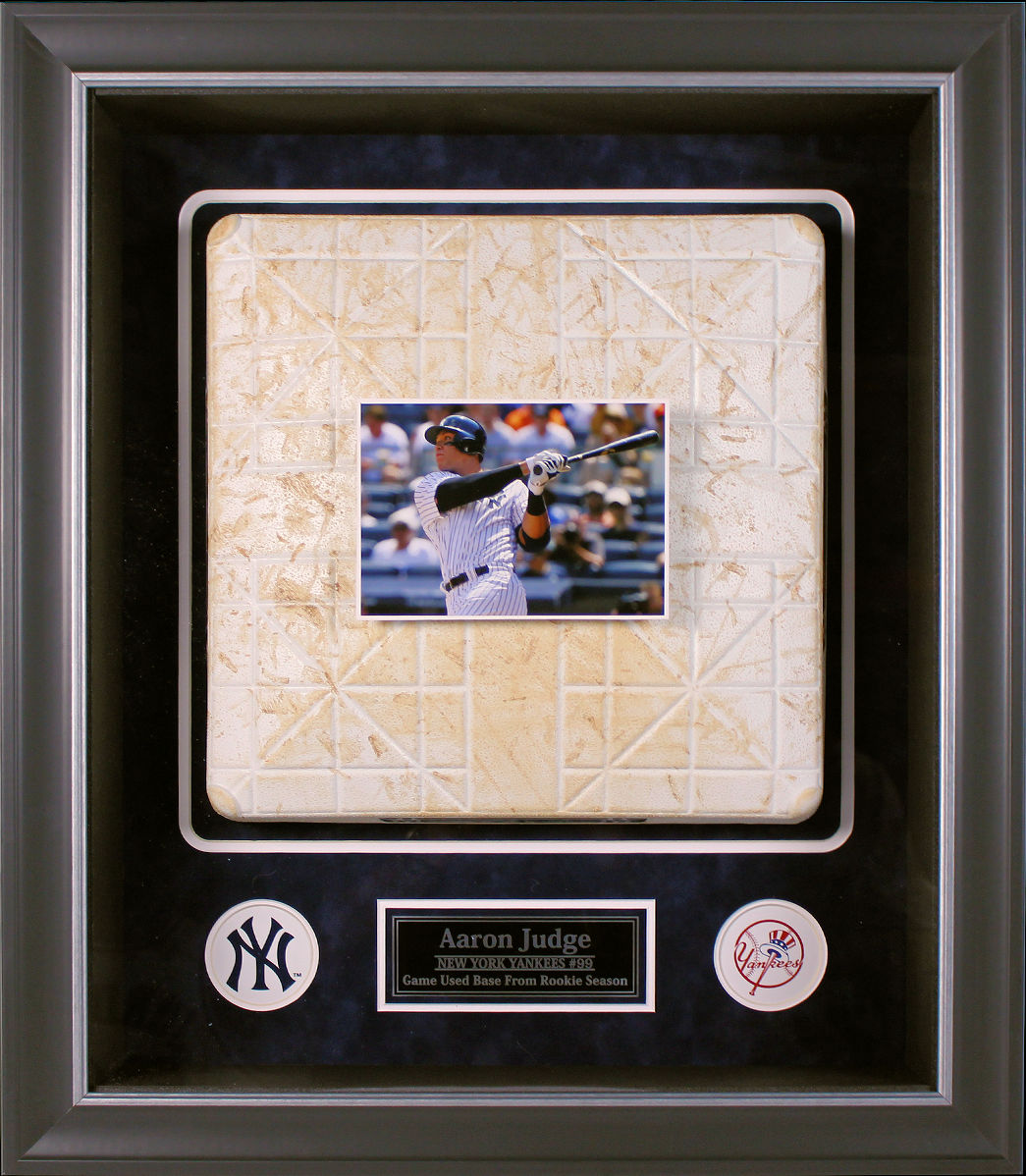 Aaron Judge Framed Rookie Season Collage w/ 2017 Yankee Game Used Base