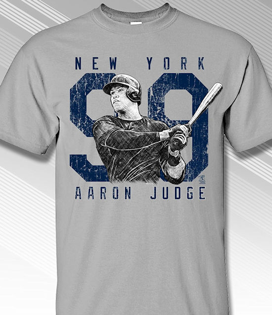 Aaron Judge Rough Cut New York 99 T-Shirt<br>Short or Long Sleeve<br>Youth Med to Adult 4X