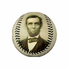 Abraham Lincoln Gettysburg Address Baseball