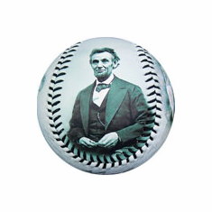 Abraham Lincoln Portraits with Monuments Baseball