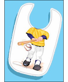 Add a Kid Louisiana Baseball Batter Oversized Bib<br>ONLY 3 LEFT!