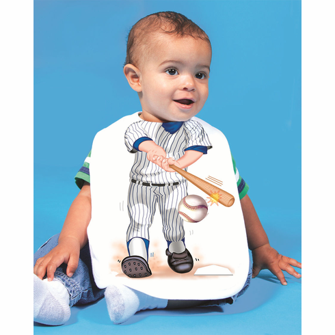 Add a Kid Pinstripes Baseball Batter Oversized Bib