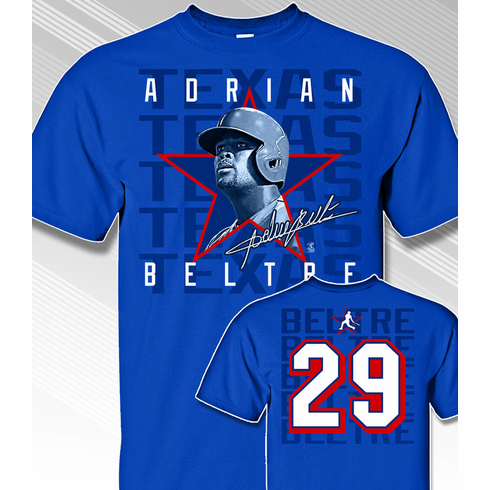 Adrian Beltre Star Power T-Shirt<br>Short or Long Sleeve<br>Youth Med to Adult 4X