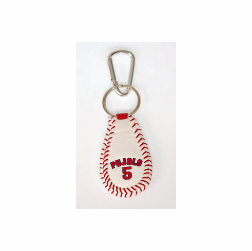 Albert Pujols 5<br>Baseball Seam Keychain<br>ONLY 2 LEFT!