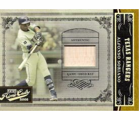 Alfonso Soriano 2005 Prime Cuts Game Used Bat 03/50