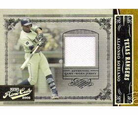 Alfonso Soriano 2005 Prime Cuts Game Used Jersey 09/50