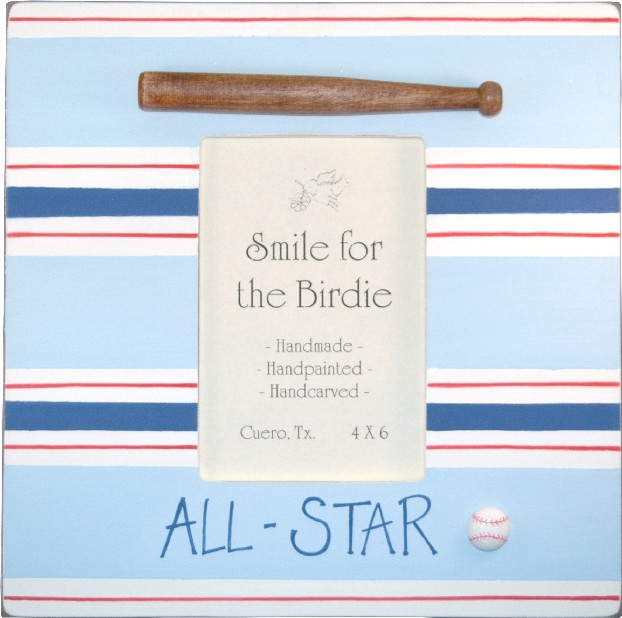 All-Star Baseball<br>Wooden 4x6 Frame<br>ONLY 1 LEFT!