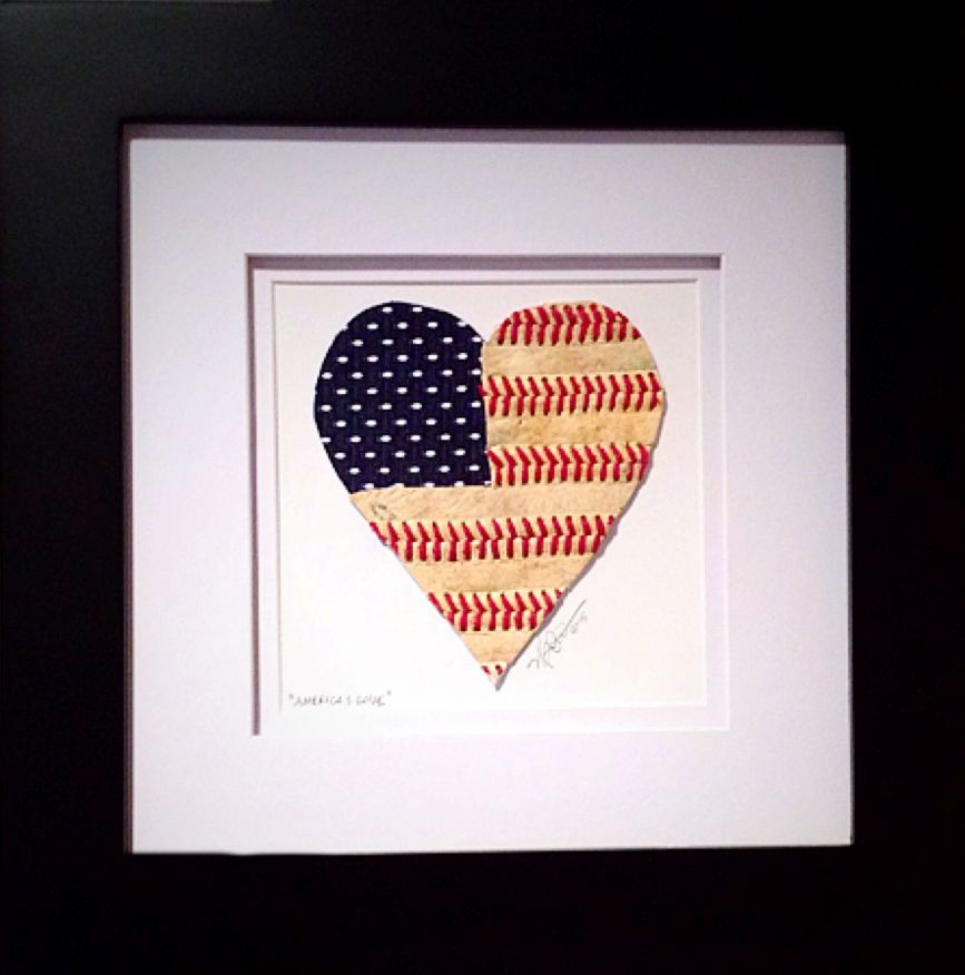 America's Love Baseball Heart Flag Original Artwork<br>LESS THAN 6 LEFT!