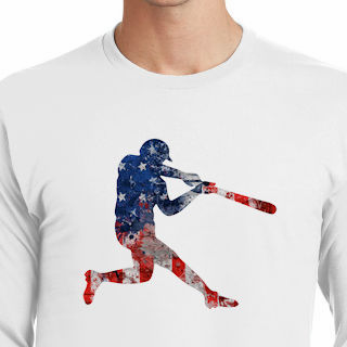 America's Pastime Baseball Batter T-Shirt<br>Choose Your Color<br>Youth Med to Adult 4X
