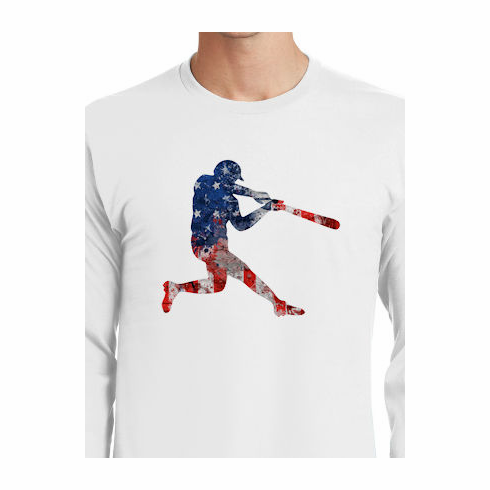 44c1e96856a America s Pastime Baseball Batter T-Shirt br Choose Your Color br Youth Med  to Adult 4X
