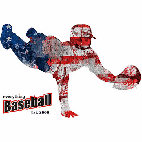 America's Pastime Baseball Fielder T-Shirt<br>Choose Your Color<br>Youth Med to Adult 4X