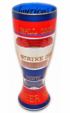 America's Pastime Baseball Pilsner Glass by I&B
