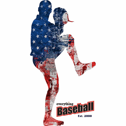 America's Pastime Baseball Pitcher T-Shirt<br>Choose Your Color<br>Youth Med to Adult 4X