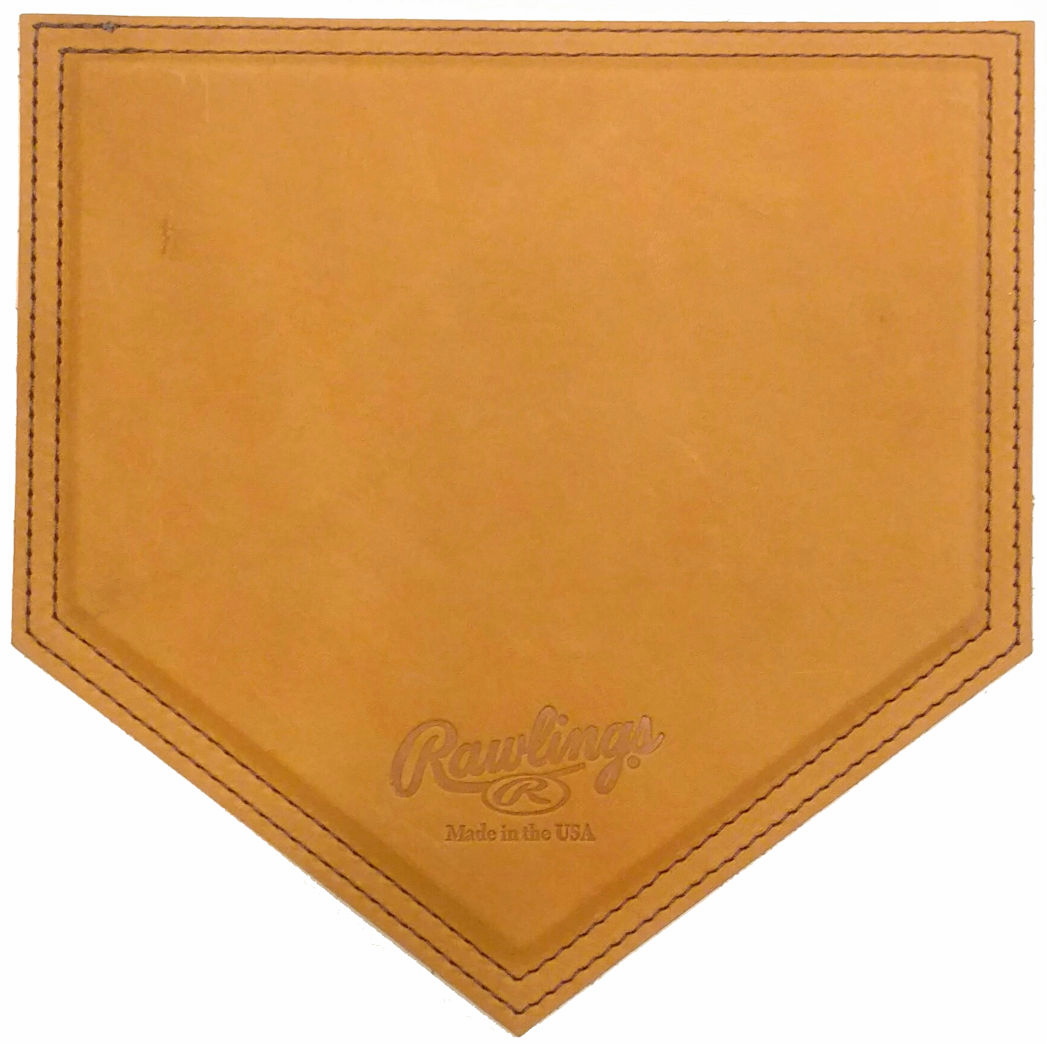 American Handcrafted Vintage Leather Home Plate Mousepads by Rawlings<br>3 COLORS!