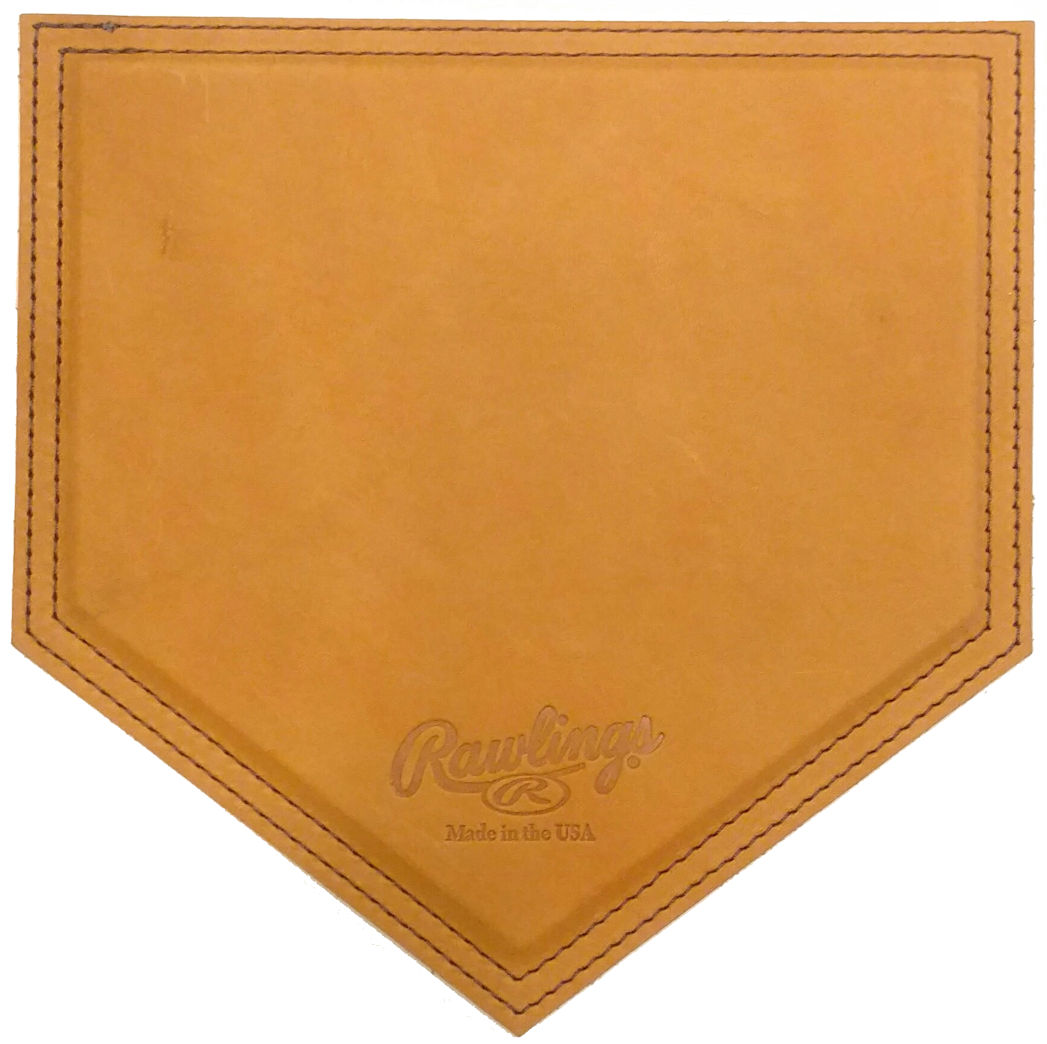 american handcrafted vintage leather home plate mousepads by