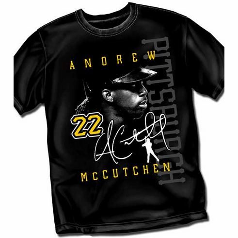 Andrew McCutchen PITTSBURGH Signature T-Shirt<br>Short or Long Sleeve<br>Youth Med to Adult 4X