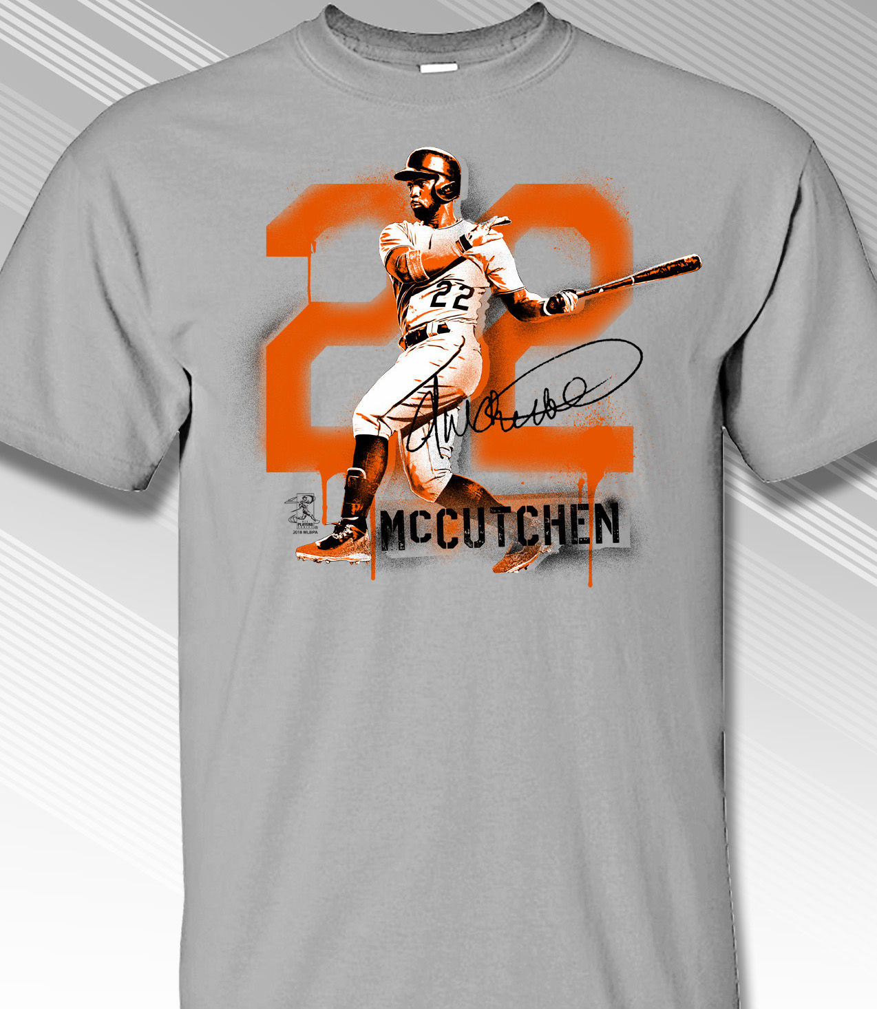 Andrew McCutchen San Francisco Graffiti T-Shirt<br>Short or Long Sleeve<br>Youth Med to Adult 4X