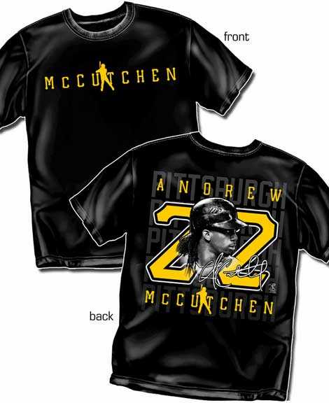 Andrew McCutchen Silhouette Number T-Shirt<br>Short or Long Sleeve<br>Youth Med to Adult 4X