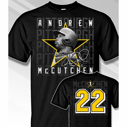 Andrew McCutchen Star Power T-Shirt<br>Short or Long Sleeve<br>Youth Med to Adult 4X
