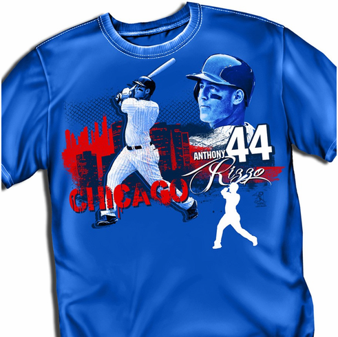 Anthony Rizzo Big City T-Shirt<br>Short or Long Sleeve<br>Youth Med to Adult 4X