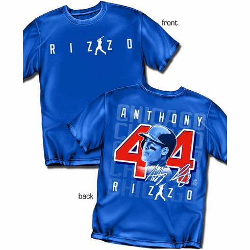 Anthony Rizzo Silhouette Number T-Shirt<br>Short or Long Sleeve<br>Youth Med to Adult 4X