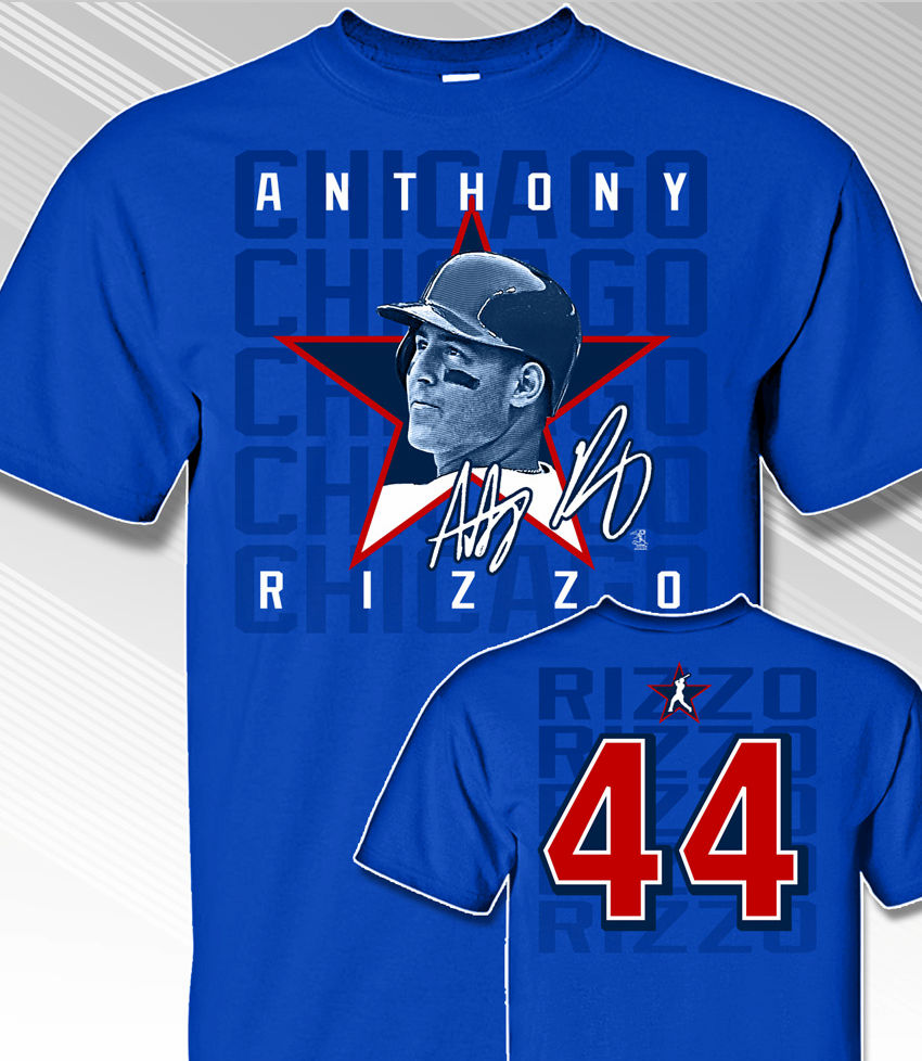 Anthony Rizzo Star Power T-Shirt<br>Short or Long Sleeve<br>Youth Med to Adult 4X