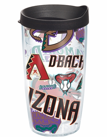 Arizona Diamondbacks All Over Wrap Set of Cups with Lids by Tervis