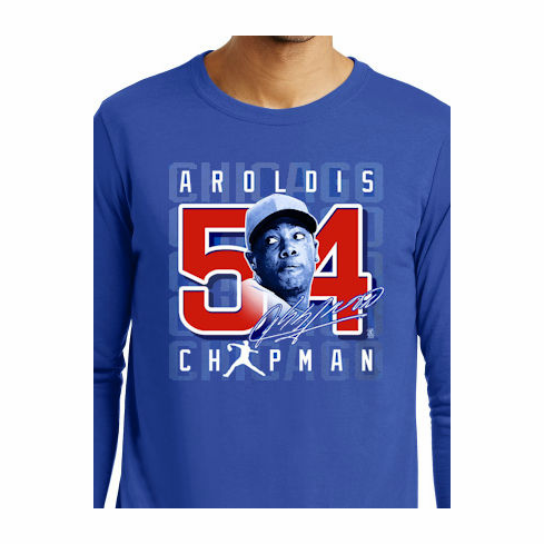 Aroldis Chapman #54 T-Shirt<br>Long Sleeve 3X<br>ONLY 1 LEFT!