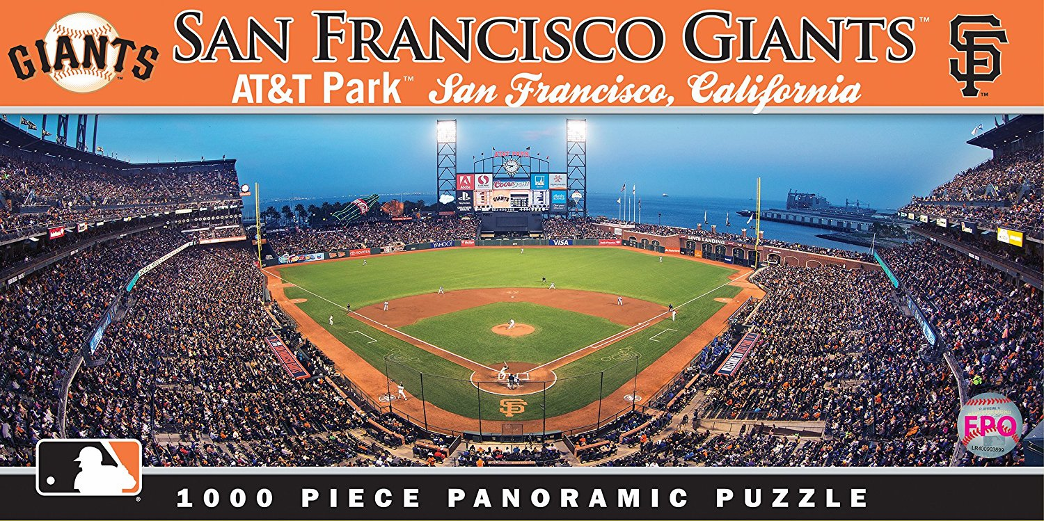 AT&T Park San Francisco Giants 1000pc Panoramic Puzzle<br>ONLY 3 LEFT!