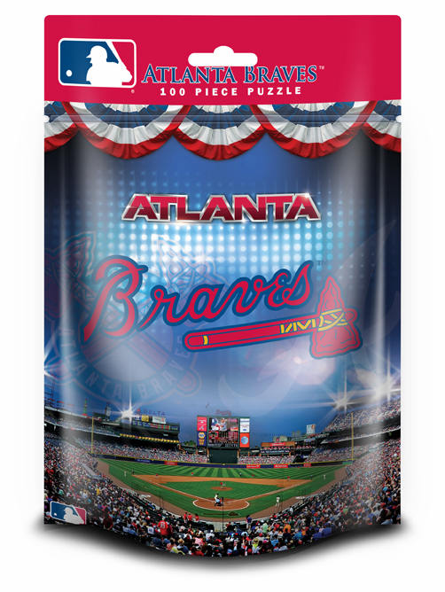 Atlanta Braves 100pc Pouch Puzzle<br>ONLY 2 LEFT!