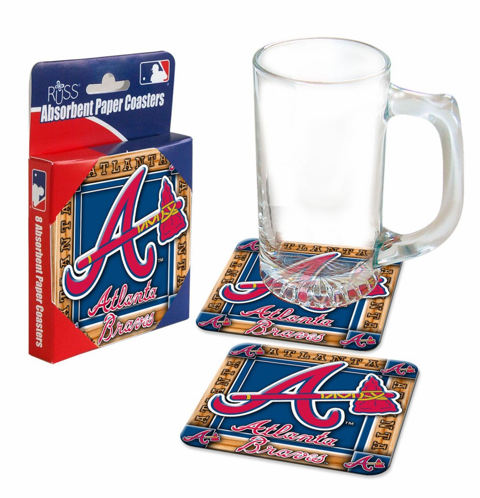 Atlanta Braves Absorbent Paper Coaster Set<br>ONLY 1 LEFT!