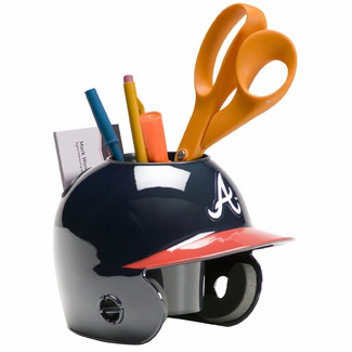 Atlanta Braves Baseball Helmet Desk Caddy<br>ONLY 6 LEFT!