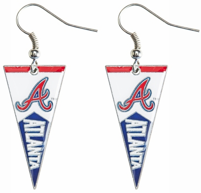 Atlanta Braves Baseball Pennant Earrings<br>LESS THAN 6 LEFT!