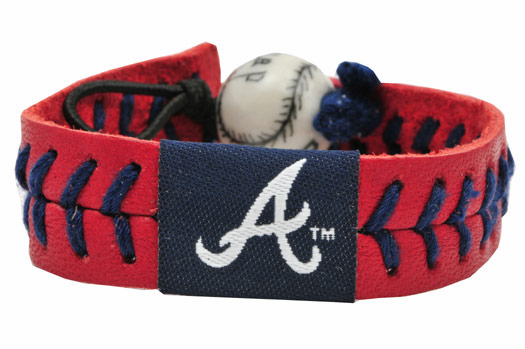 Atlanta Braves<br>Baseball Seam Team Colored Bracelet