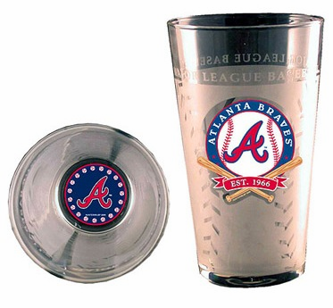 Atlanta Braves<br>Frosty Pint Glass<br>ONLY 6 LEFT!