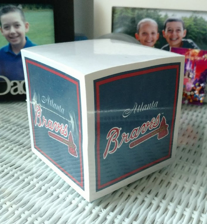 Atlanta Braves Paper Note Cube<br>ONLY 1 LEFT!