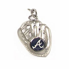 Atlanta Braves Sculpted Baseball Glove Key Chain<br>3 DESIGNS!