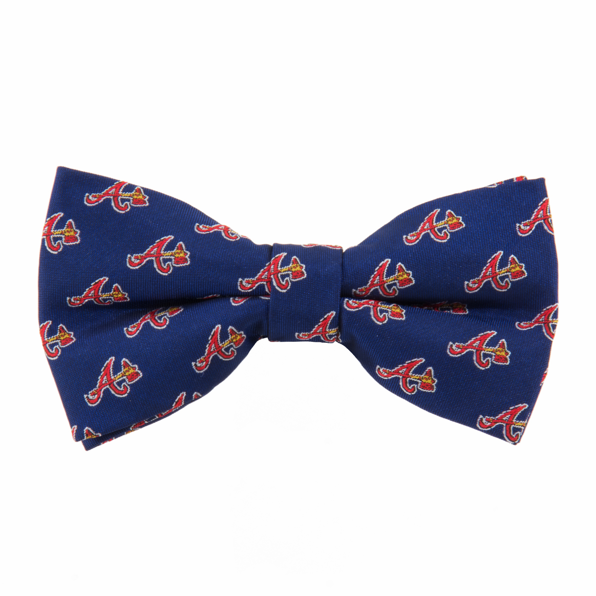 Atlanta Braves<br>Woven Poly Repeat<br>Baseball Bow Tie<br>ONLY 1 LEFT!
