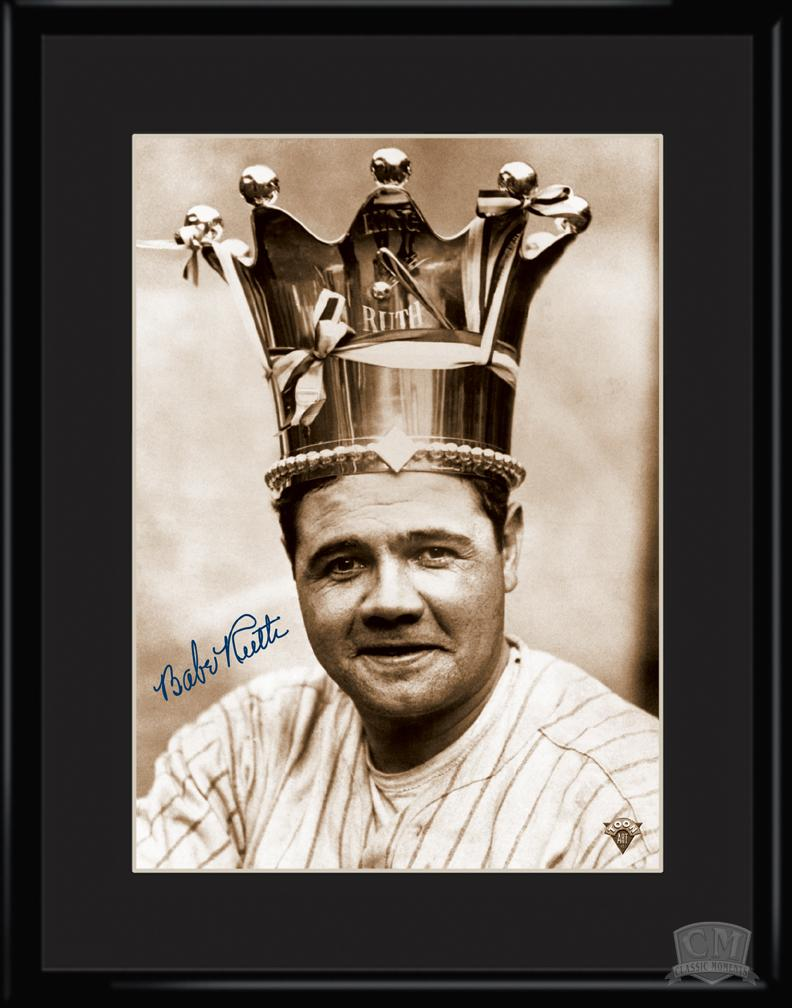 Babe Ruth King of Baseball 11x14 Framed Lithograph