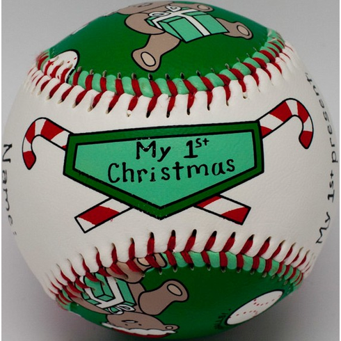 Baby's First Christmas Baseball