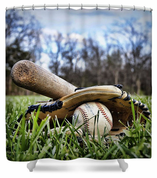 Backyard Baseball Memories Shower Curtain