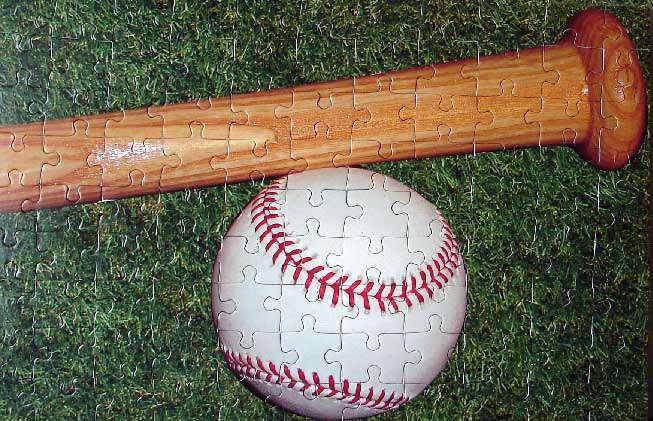 Baseball and Bat Puzzle<br>3 OPTIONS!