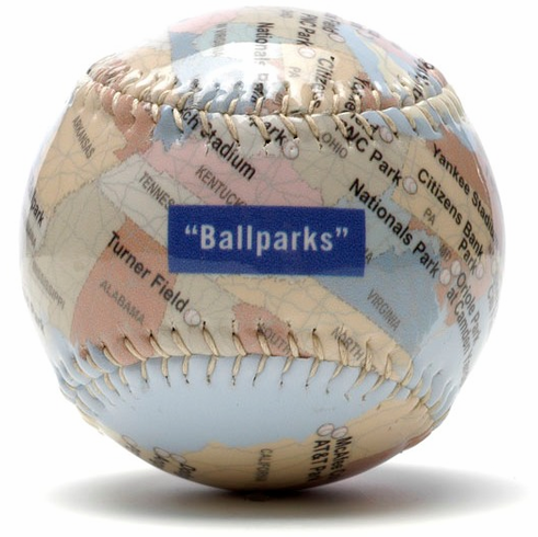 Ballparks of America Gloss Baseball<br>IN STOCK NOW!